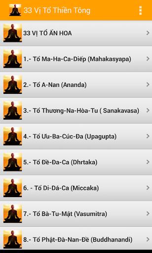 33 Vị Tổ Thiền Tông -Phật Giáo