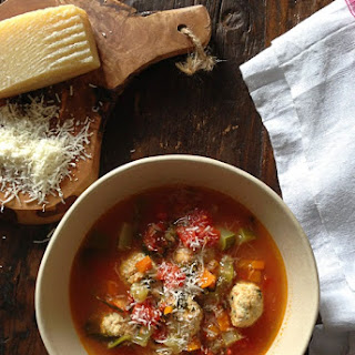 Mini Turkey Meatball Vegetable Soup