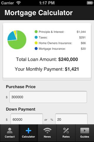 Casey Oiness Mortgage Calc. - screenshot