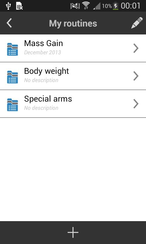 My Workout Diary - screenshot