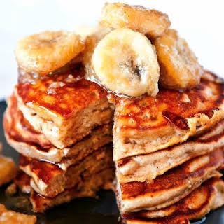 Peanut Butter And Banana Pancakes.