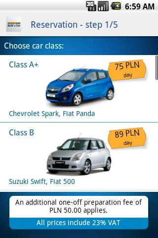 Express Rent a Car - screenshot