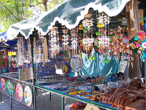 San-Blas-Nayarit-Mexico - A market stand in San Blas on the Pacific coast of Mexico. The area offers some of the best surfing in Mexico.