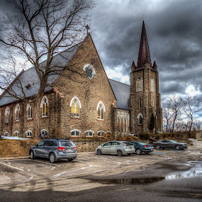 Anglican Church Mississauga by Jack Brittain - Buildings & Architecture Places of Worship ( hdr, canada, church, ontario, architecture, anglican, mississauga,  )