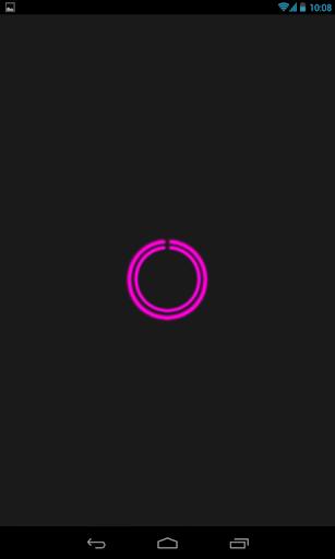 Pink C-Circle Neon Clock