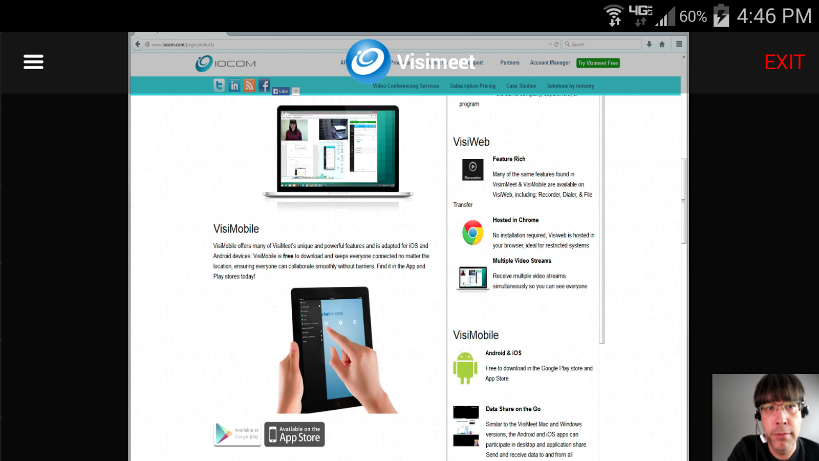 Visimeet- screenshot