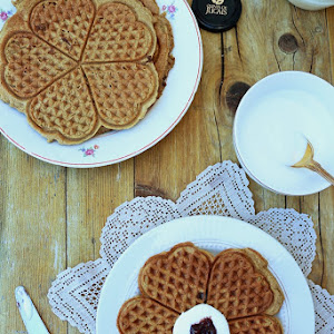 Greek Yogurt Golden Waffles