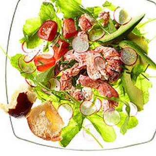Creamy Lobster Salad with Arugula.