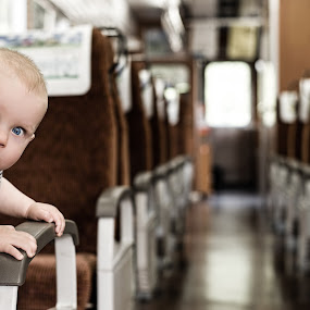 Peekaboo by Justin Orr - Babies & Children Children Candids ( child, play, train, adorable, baby, peekaboo, cute, eyes,  )