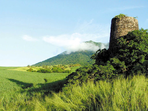 Saint-Kitts-windmill-ruin - An old windmill on Saint Kitts in the Caribbean.