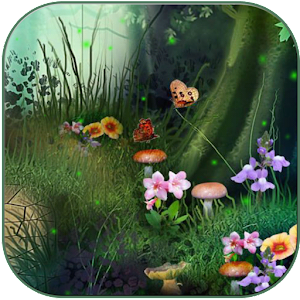 Fireflies in the fairy forest for Android