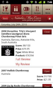 Natalie MacLean Wine Reviews- screenshot thumbnail