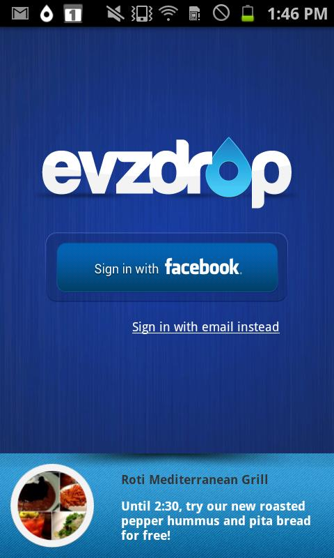 Evzdrop - screenshot