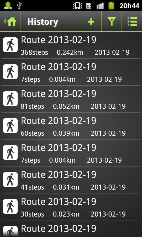 Pedometer Plus - screenshot