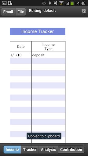 Income Tracker Mobile