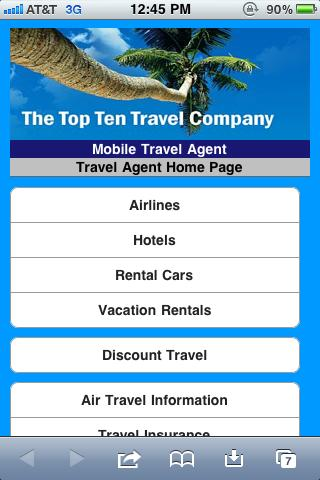 Personal Travel Agent - screenshot