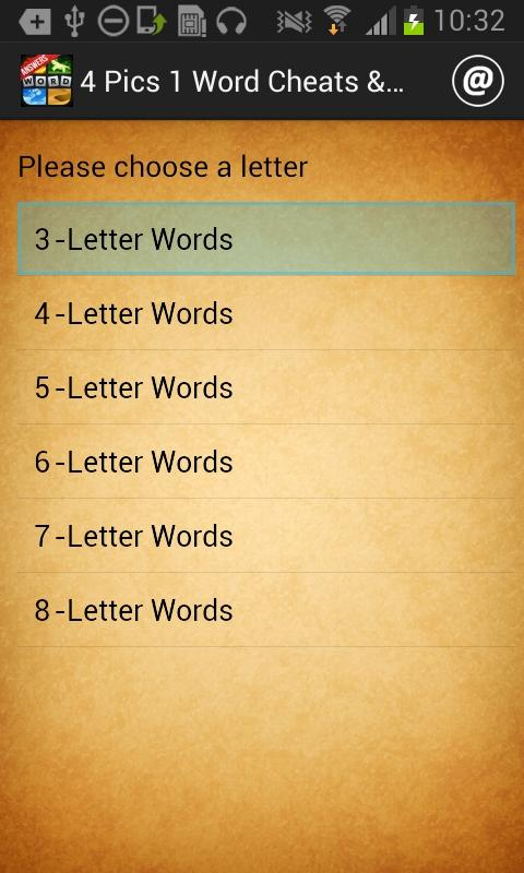 4 Pics 1 Word Cheats & Answers - screenshot