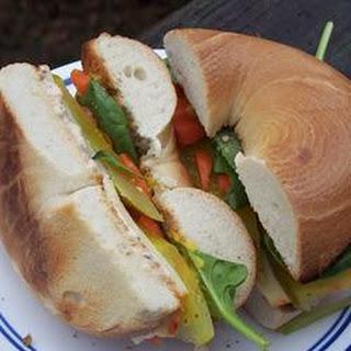 School Lunch Bagel Sandwich.