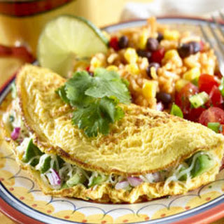 Cheesy Avocado Omelets Recipe