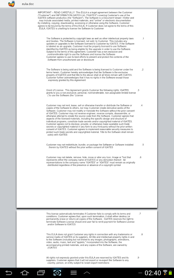 Documento - Office Viewer - screenshot
