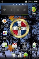 Screenshot of Dominican Republic flag clocks