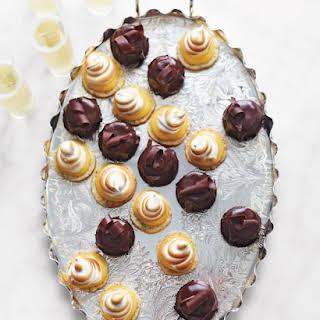 Poppy-Seed Cookies with Meyer Lemon Curd and Swiss Meringue.