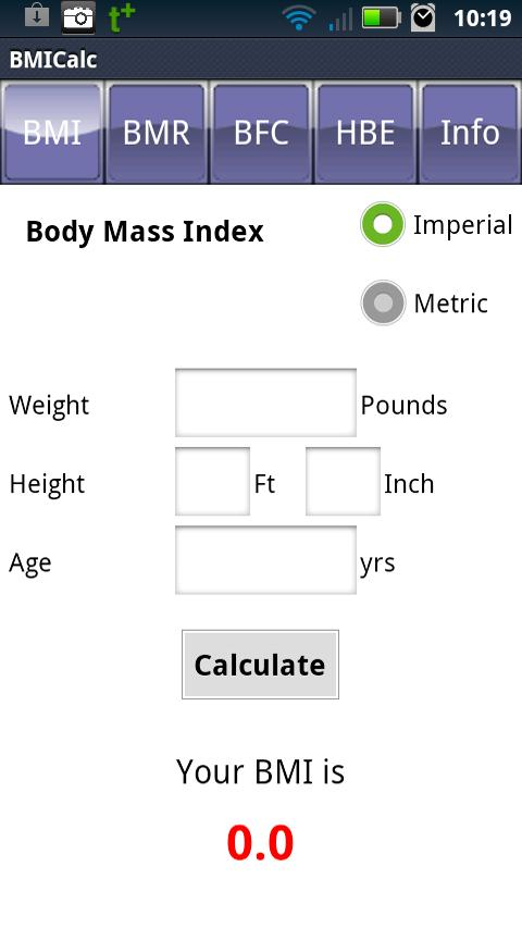 BMI Calculator- screenshot