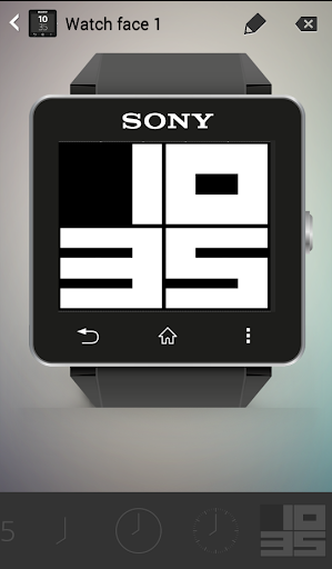 Big Clock Sony SmartWatch 2
