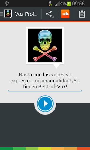 Voz Profundis voice spanish