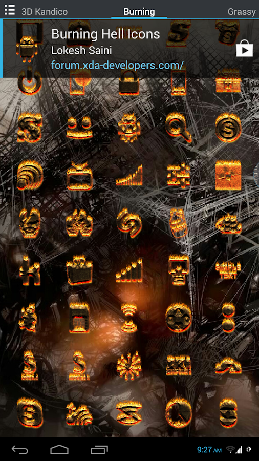 Burning Hell Icons - screenshot