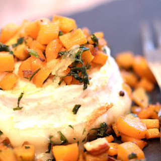 Brebille Baked Cheese, Baby Carrots, Hazelnuts, And Honey