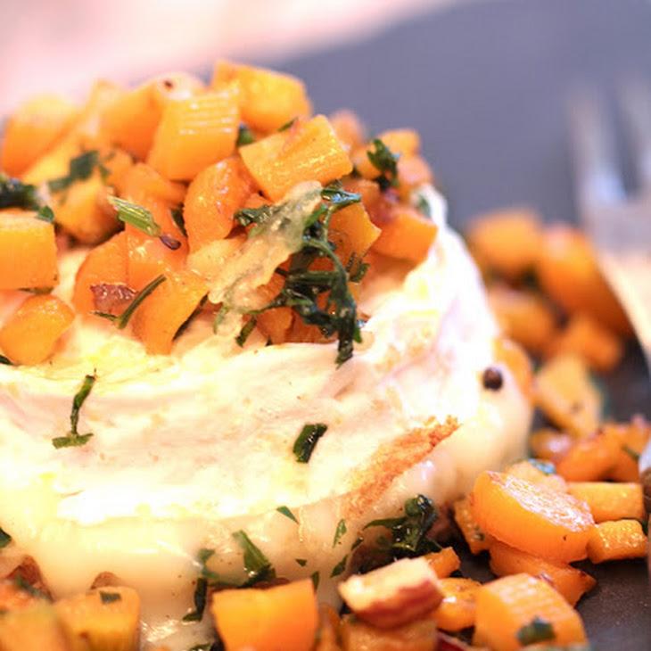 Brebille Baked Cheese, Baby Carrots, Hazelnuts, And Honey