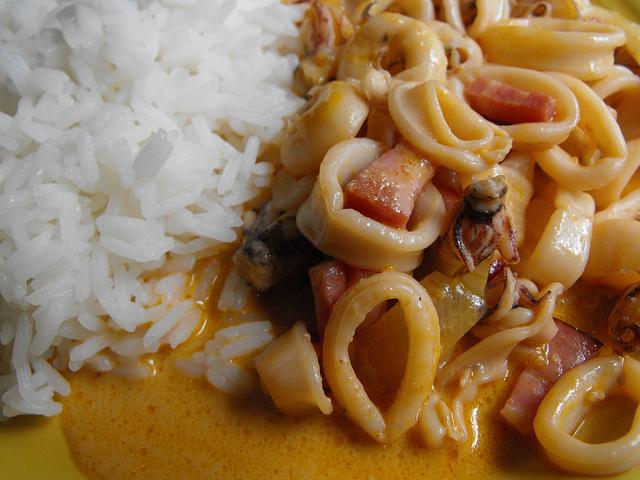 Squid with Mustard Sauce Recipe