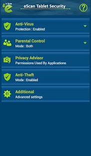 eScan Tablet Security- screenshot thumbnail
