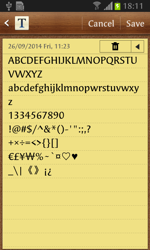 Syndor FlipFont - screenshot