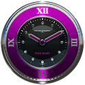 pink snake clock widget icon