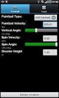 Screenshot of Paintball Ballistics
