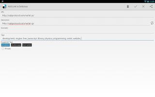 Screenshot of Droidicious Free (delicious)