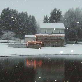 Home Sweet Home by RichandCheryl Shaffer - Uncategorized All Uncategorized ( , mood, mood factory, holiday, christmas, hanukkah, red, green, lights, artifical, lighting, colors, Kwanzaa, blue, black, celebrate, tis the season, festive )