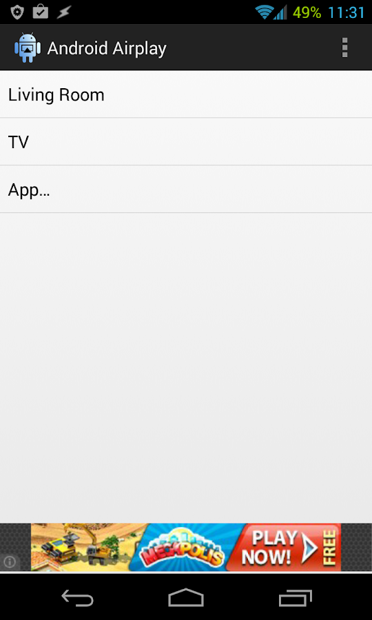 Android Airplay - screenshot