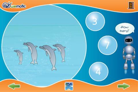 Sea Animals + Numbers for kids - screenshot