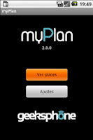 Screenshot of myPlan