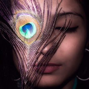 a Bond with Art. by Ahamadul Karim - People Portraits of Women ( beauty eyes peacock,  )