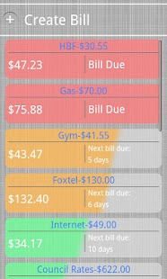 Bill Burner- Budget & Reminder- screenshot thumbnail