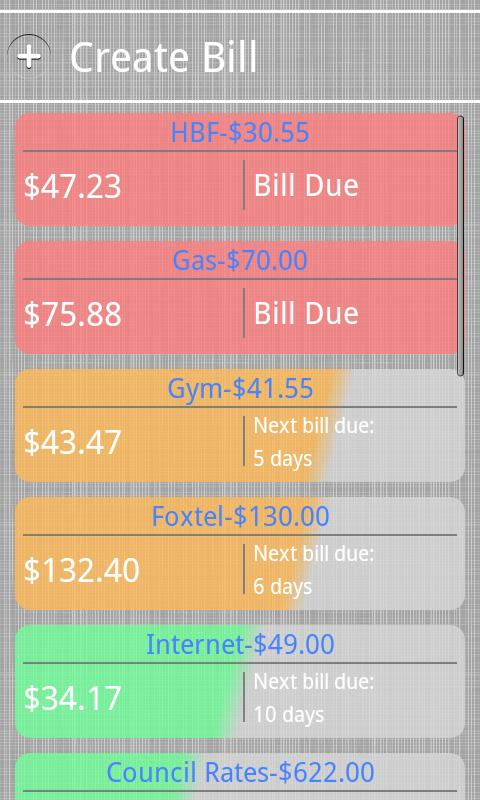 Bill Burner- Budget & Reminder - screenshot