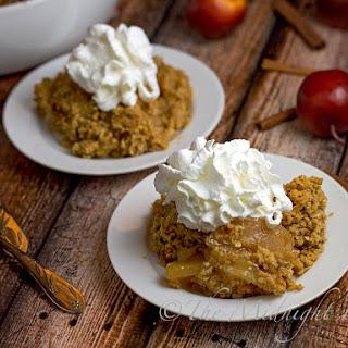 3-Ingredient Apple Oatmeal Crisp