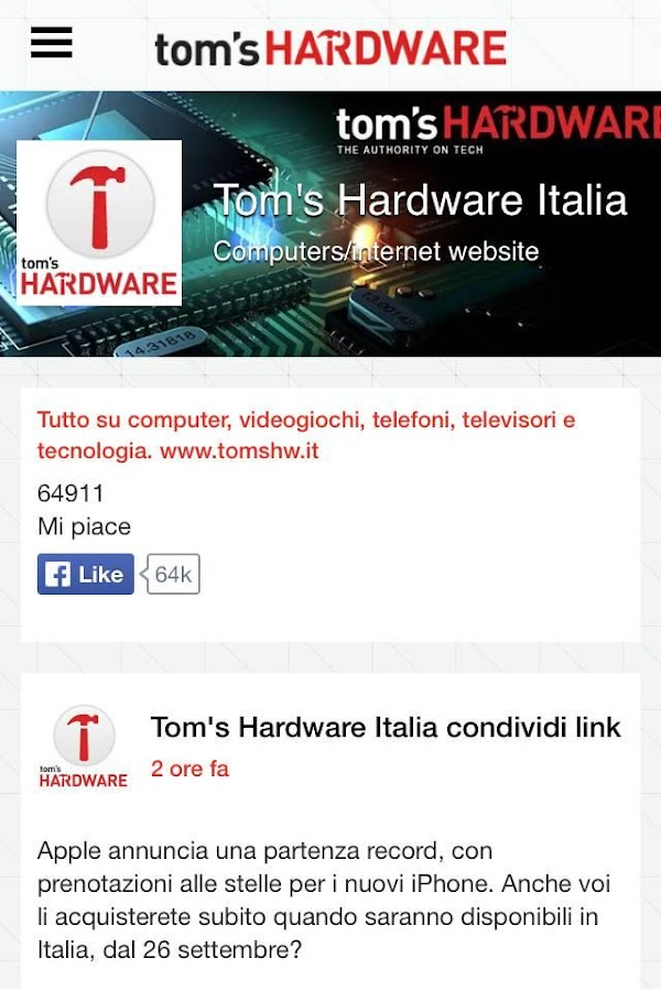 Tom's Hardware Italia - Android Apps on Google Play