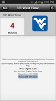 Screenshot of WVU Urgent Care