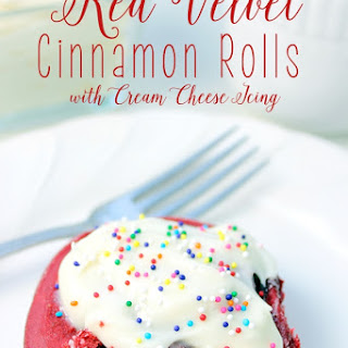 Red Velvet Cinnamon Rolls with Cream Cheese Icing