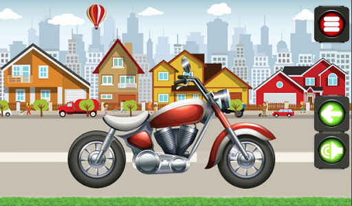 動畫拼圖摩托車